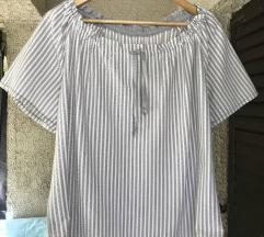 Ženska bluza na sivo-bele prugice unikat