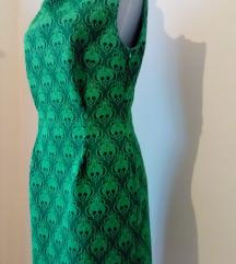 Zelena rolka haljina bez rukava, vel.40