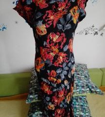 Midi floralna haljina