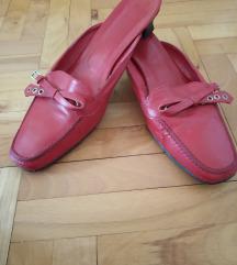 Vintage crvene kozne papuce