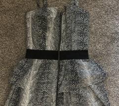 Mini zmijski print haljina