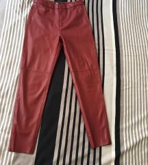 ❤️SNIŽENO❤️ NOVO Zara kožne helanke/pantalone