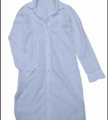 120%Lino prelepa bela lanena haljina 42