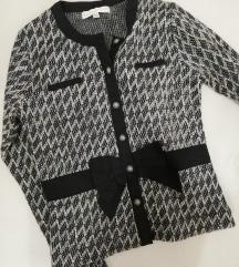 Crno beli sako/dzemper/jaknica