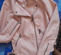 Bebi roze kozna jaknica