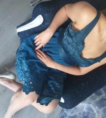 Plava svečana haljina od viskoze