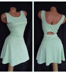 H&M DIVIDED ✿ pastelno zelena haljinica sa otvorom