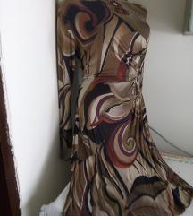 Braonkasta dugih rukava haljina S/M