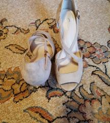 Nude cipele sandale na stiklu safran