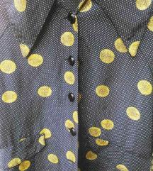 Vintage unikatna bluza sa velikim ovratnikom