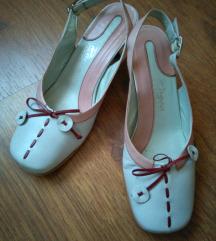 Zenske sandale belo-roza kombinacija