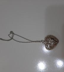 Sajlica sa priveskom srebro