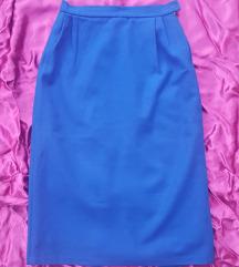 Plava midi suknja, vel. 36/38