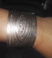 Boho srebrna berberska narukvica iz pustinje Siwa
