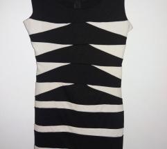 Uska crno bela haljina