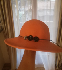 Narandžasti šešir, 100% vuna