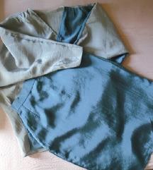 3 u1 komplet od kamenovane svile