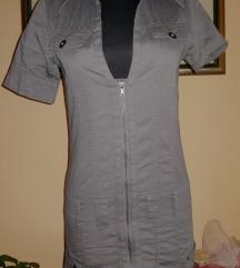 Maslinasta haljina na kopcanje