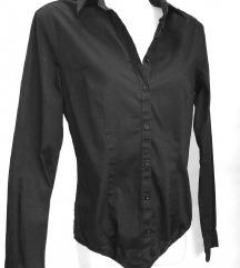TERRANOVA crna košulja kao bodi