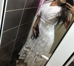 NOVA haljina bela sa etiketom S/m