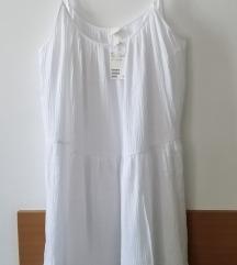 H&M bela haljina XL  (50) NOVO