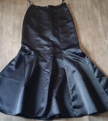 Elegantna maxi crna suknja, 40, NOVO