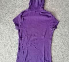 ZARA BASIC ljubicasta majica sa rol kragnom
