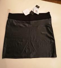 Kozna suknja Novo s etiketom