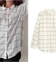 H&M cube oversized cotton košulja NOVO