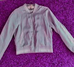 Bomber srebrna jakna