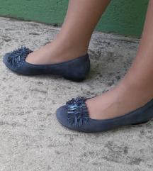 Ara kozne teget plave cipele- baletanke 38