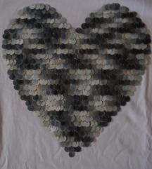 LCW, tanji duksić/bluza sa srcem od krljušti